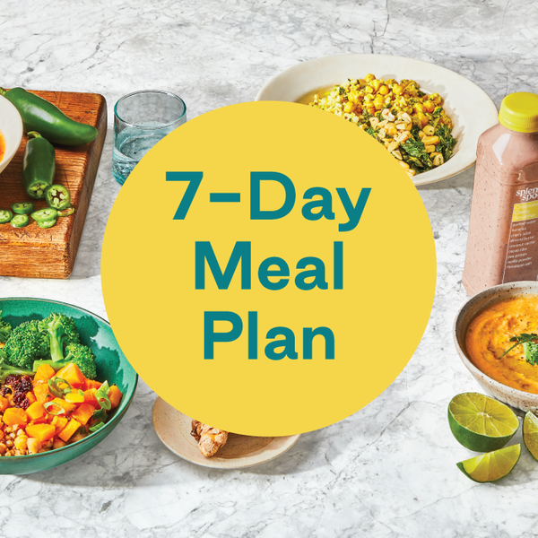 Splendid Spoon 7-Day meal plan including snacks and dinners