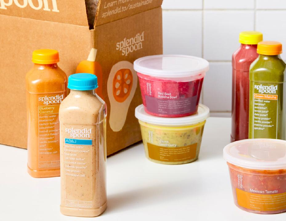 Splendid Spoon's Breakfast + Lunch Plan with Smoothies and Bowls