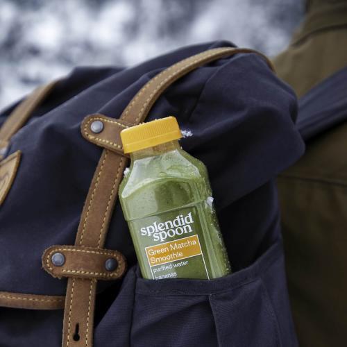 Smoothie in a backpack pocket