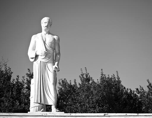 Hippocrates statue