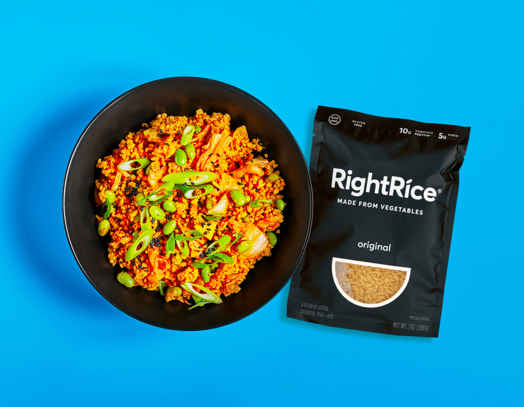 RightRice® and Splendid Spoon Kimchi Bowl together